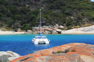 Anchored at Allports, Flinders Island