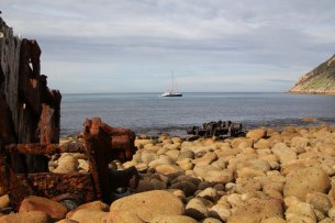 Anchored in Squally Cove, deal Island