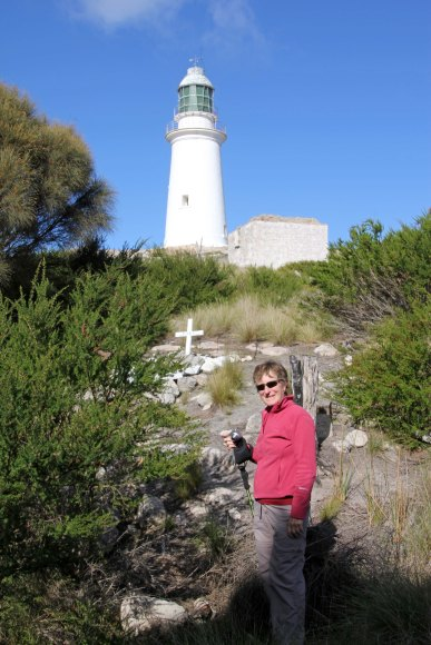 Sue made it to the Deal Island lighthouse