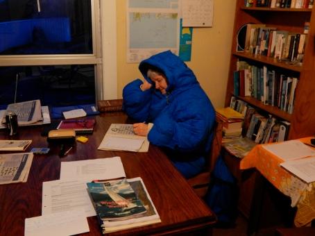 Mary rygged up at Maatsuyker