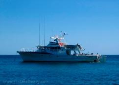 The Van Diemen police rescue vessel on a better day, taken by Christine Danger