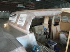 Cabin roof on... more bogging!