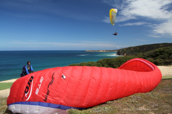 Paragliding launch