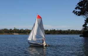 Wade's first dinghy sail