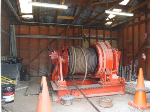 The big winch to drag TIE out of the water