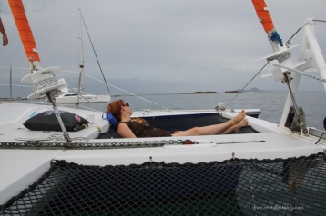 Lisa relaxing in the nets