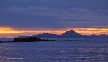 Sunset at Broughton Island