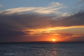 Sunset on Jervis Bay, from Long Beach