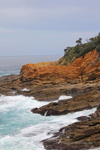 Beautiful cliffs at Bermagui