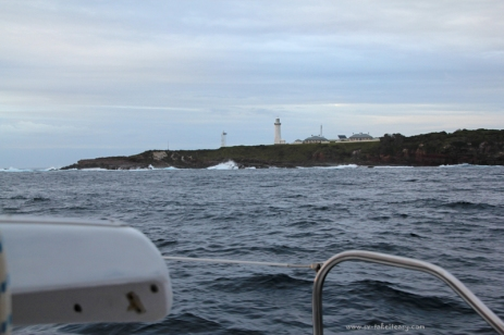 Sailing past Green Cape