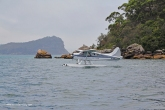 Even seaplanes move around the moored boats!