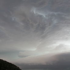 Stormy sky at Wreck Bay