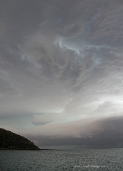 Stormy sky at Wreck Bay