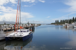 Tied up to the wharf at Bermagui