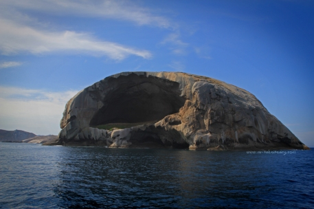 Cleft Island, also known as Skull Rock