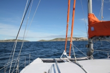 Arrival at Hogan Island