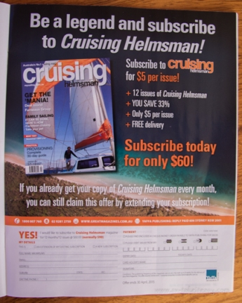 Cover Boy for Cruising Helmsman advertising!