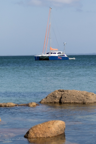 Anchored at Corner Inlet