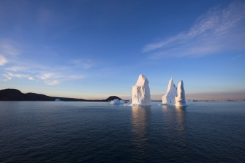 Icebergs at Scoresby Sound by Richard Sidey