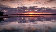 Gippsland Lakes sunset