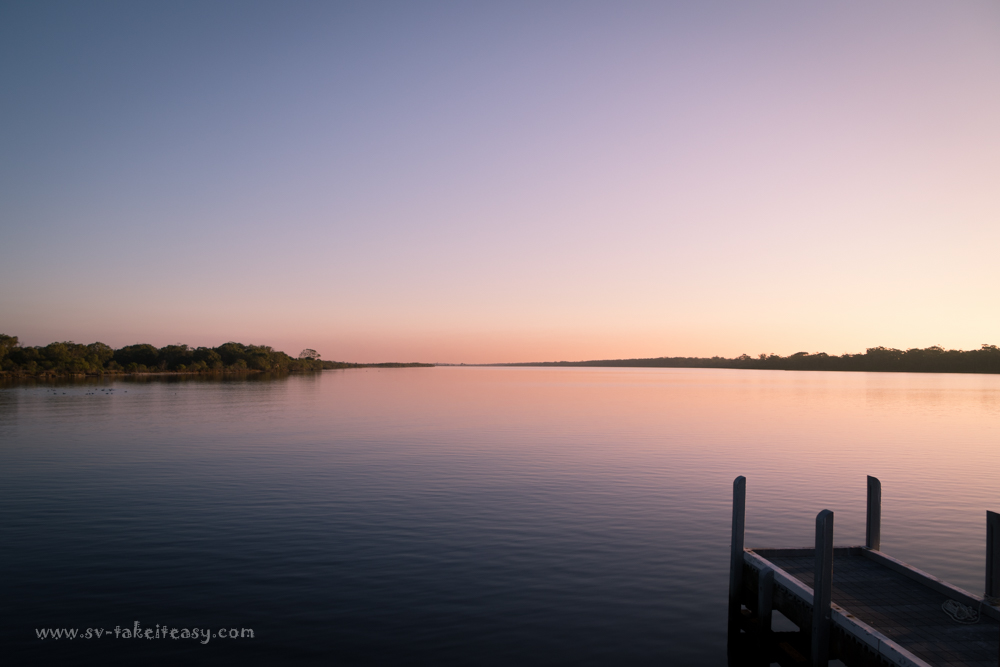 Sunset at Rotamah Island jetty