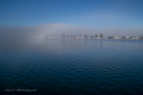 Port Albert in fog