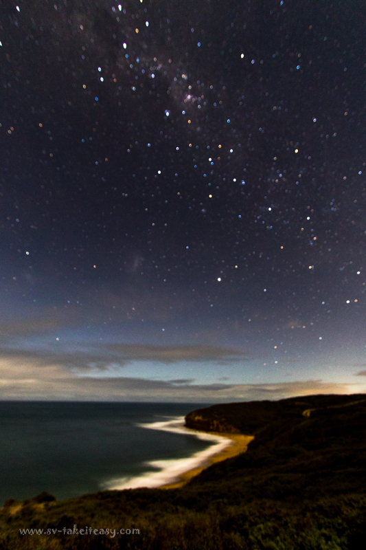 Milky way at Bells Beach