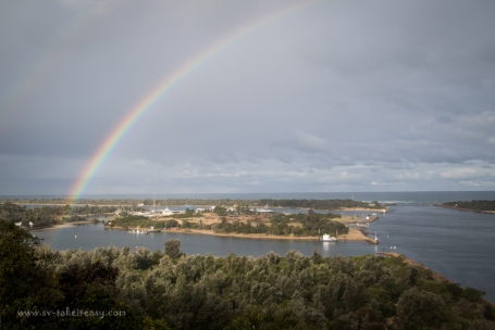 Rainbow over Lakes Entrance