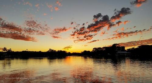 Sunset on the Mooloolaba River