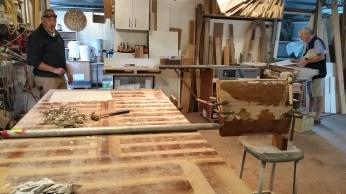 Rudder under construction