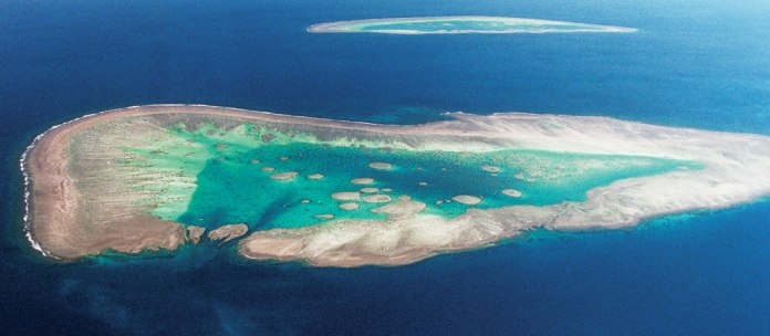 Aerial view of Fitzroy Reef