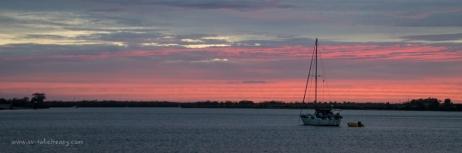 Sunset in the Burnett River, Bundaberg