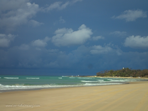 Storm approaching at Yellow Patch, Moreton Island