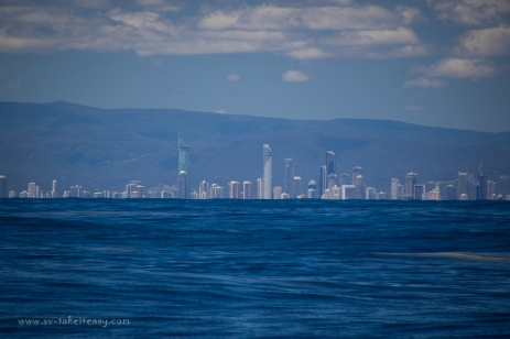 Gold Coast high rises, just beyond the swell line