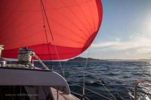 Flying Big Red off Byron Bay