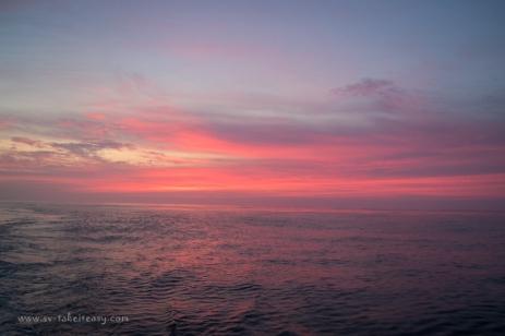 Sunrise in Bass Strait!