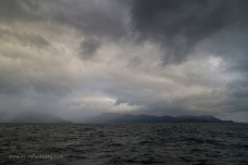 Rain and clouds over Wilsons Prom
