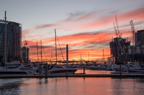 Sunset at Docklands, Long Exposure
