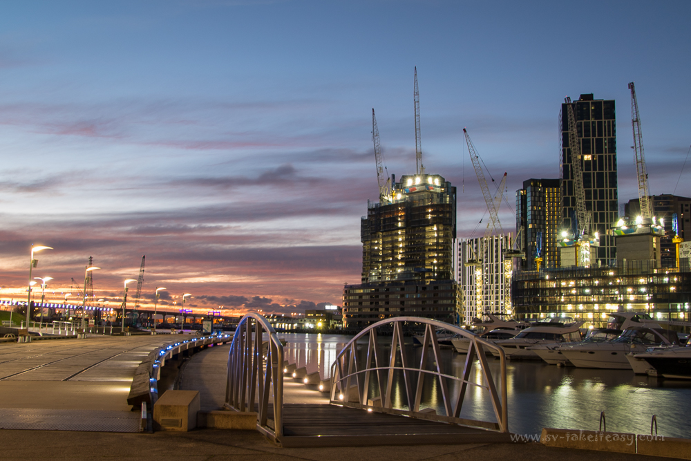 Docklands at blue hour, Long Exposure