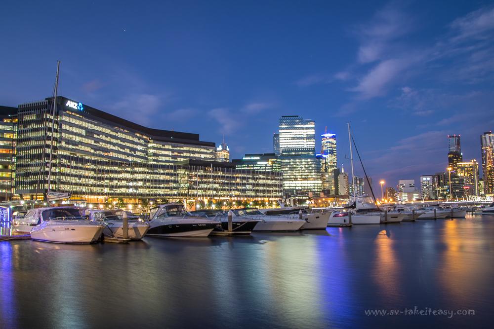 Docklands at blue hour