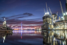 Docklands at blue hour