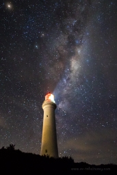 Milky Way and Aireys Inlet Lighthouse