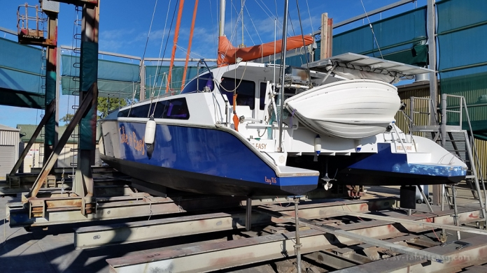 Looking better after the anti-foul and hull polish