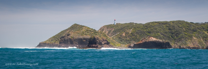 Cape Schanck and Pulpit Rock from the ocean