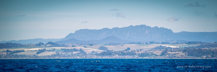 Mt Roland from the ocean, behind Devonport