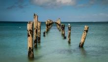 The derelict pier at Bridport
