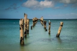 The derelict pier at Bridport