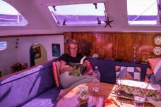 Life aboard - Ann reading