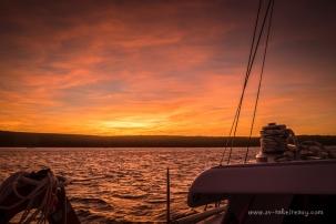 Sunset at Kangaroo Bay, Clarke Island