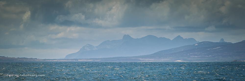 Views towards the Strzelecki Range on Flinders Island